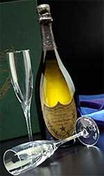 champagner weiße flasche